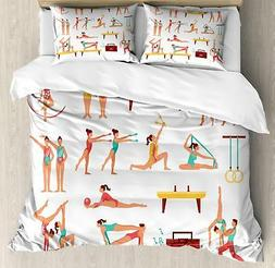 Gymnastics Duvet Cover Set Twin Queen King Sizes with Pillow