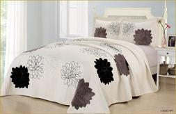 High Quality Quilted Embroidery Bedspread Bed Coverlets Cove