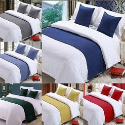 Hotel Bed Scarf Runner Cushion Cover Bedding Wedding Bedroom
