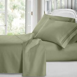 Hotel Collection Soft 1800 Count Deep Pocket 4 Piece Bed She