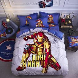 iron man bedding 3d comforter set single