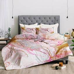 Deny Designs Iveta Abolina Winter Marble Comforter Set, Quee