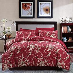 Brandream Japanese Oriental Style Cherry Red Blossom Floral