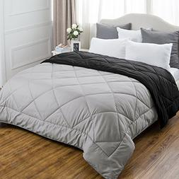King Comforter Reversible Duvet Insert with Corner Ties-Quil