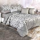 10 Pc Complete Bedding Sets elegant solid sheets lucera quee