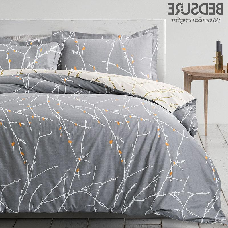 100 percent cotton duvet cover set grey