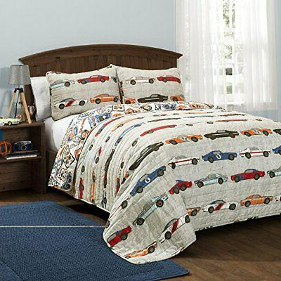 16t000545 race cars quilt set