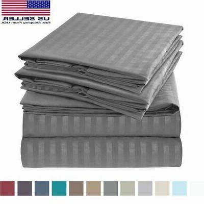 1800 Count Bamboo Egyptian Cotton Comfort Bed Sheet Set Pocket