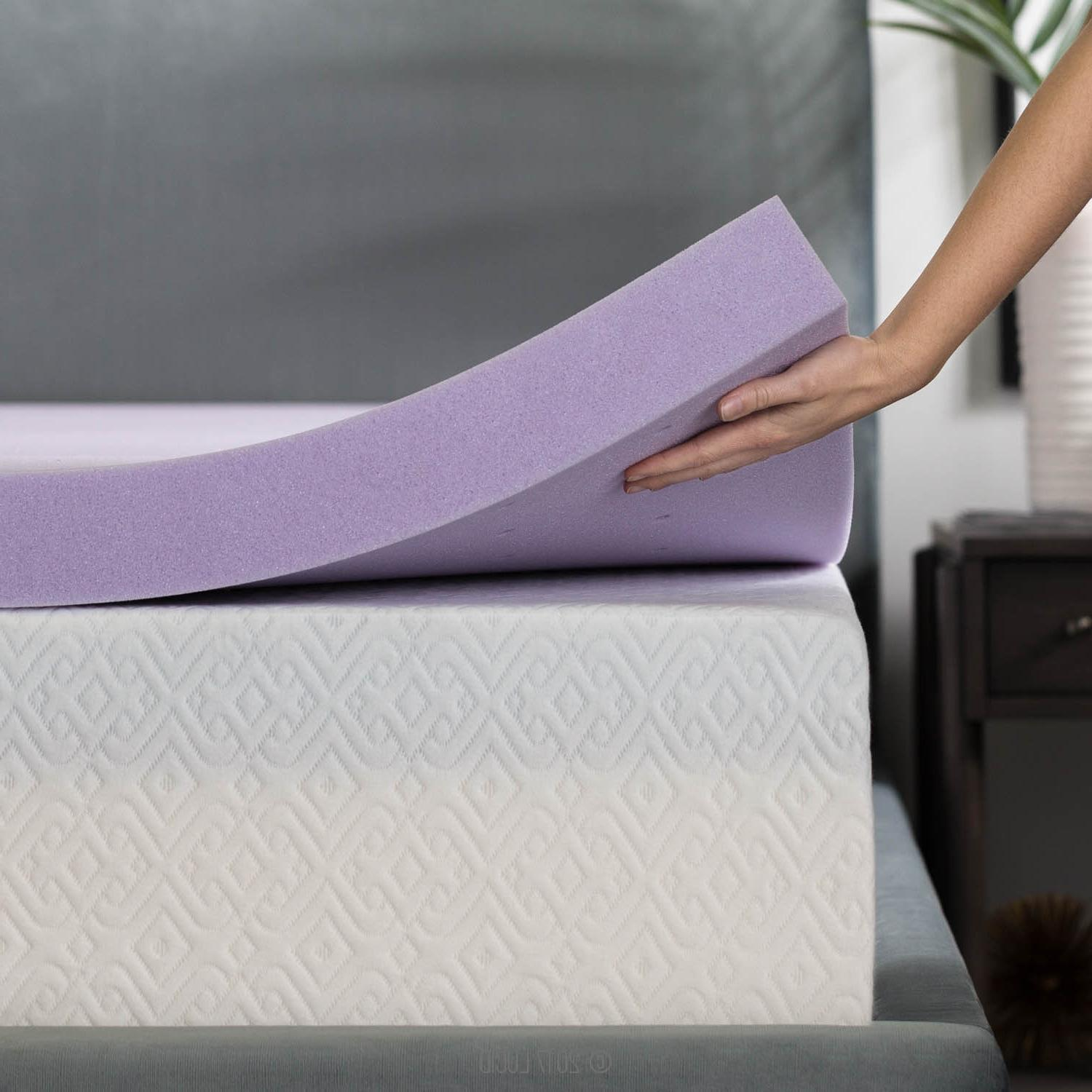 3 Inch Lavender Infused Memory Foam Mattress Topper - Ventil