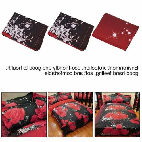 3d Bedding Sets Home Textile Hot Red Pattern 4pcs Queen Bedding SG