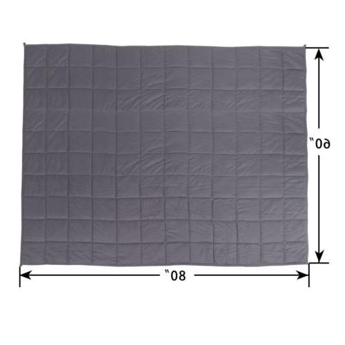 "60""x80"" Weighted Blanket Full Stress Promote Deep Sleep"