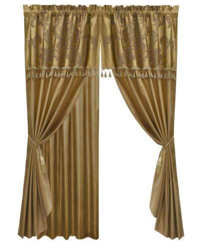 Chezmoi Collection Jacquard Floral or Curtain