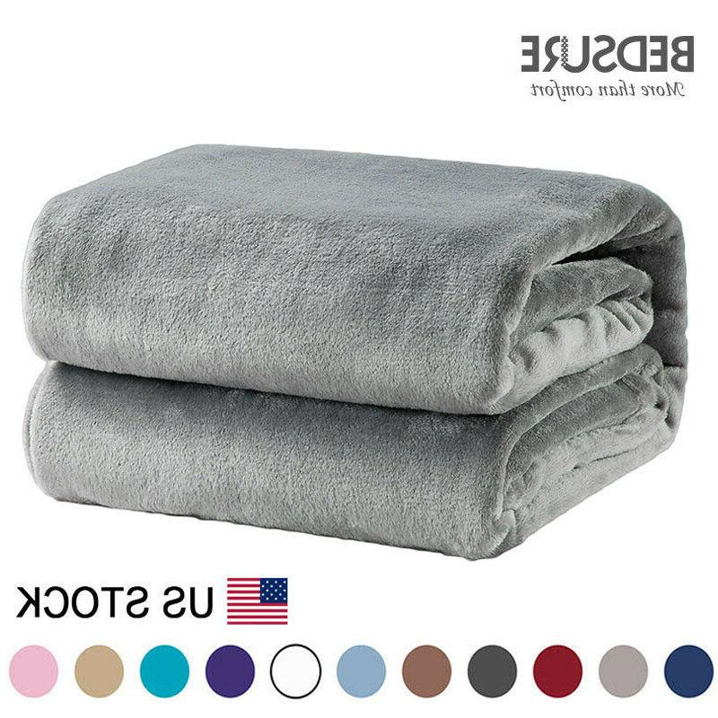 Bedsure Luxury Fleece Blanket Flannel Throw Warm Soft Cozy C