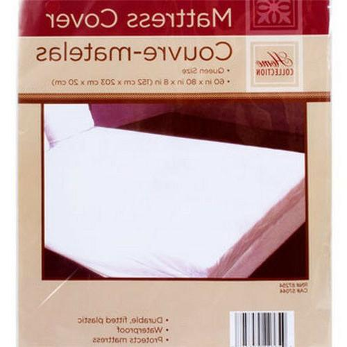 QUEEN SIZE MATTRESS COVER Extra Soft Plastic Fitted Protecto
