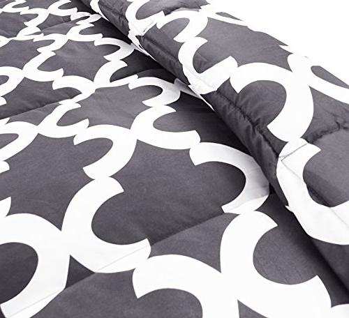 Utopia Printed Set with Pillow Shams Microfiber - Alternative Comforter Soft and - Washable