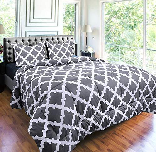 Utopia Bedding Set with Pillow Shams Luxurious Microfiber Down Alternative Comforter - and Comfortable Machine Washable