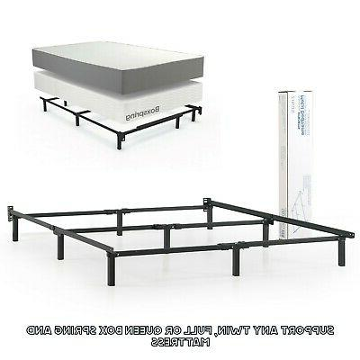 Adjustable Bed Frame Twin Full Queen Size Metal Box Spring M