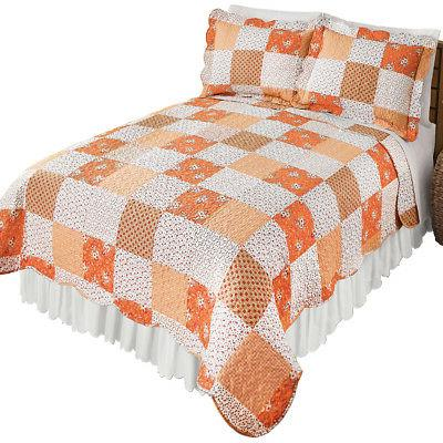 Amber Mini Floral Patchwork Quilt Bedding Coverlet, by Colle