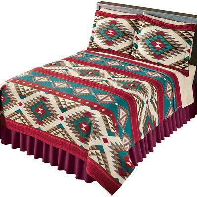 Aztec Fleece Coverlet, Southwest Design Bedding, by Collecti