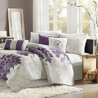 Beautiful 7 Piece Comforters Set Queen Size Bedding set by M