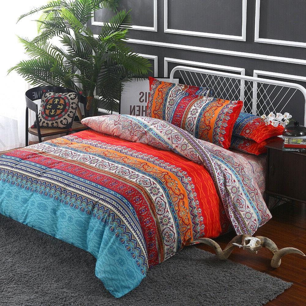 Bedding Set Duvet Cover Pillowcase Bed Cover Bohemian Mandal