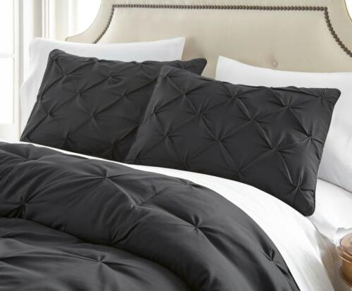 Chezmoi Pinch Pleat Comforter Set Sizes