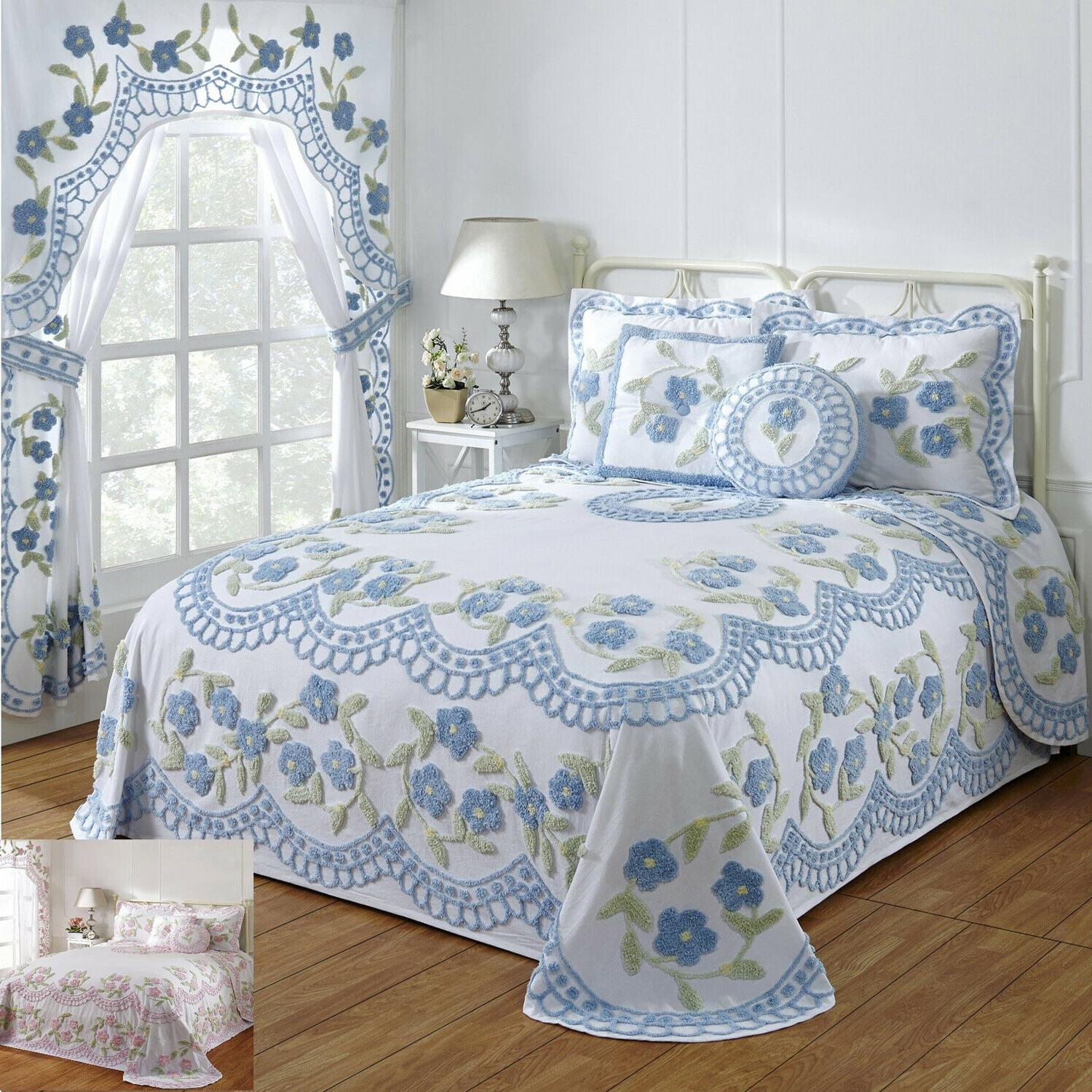 bloomfield 100 percent cotton tufted chenille bedspreads