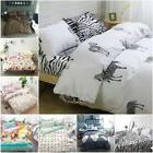 Cartoon Cotton Bedding Set  Duvet Cover Pillow Cases Set 4 P