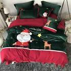 Christmas Bedding Duvet Cover Sets Santa Claus Embroidered P