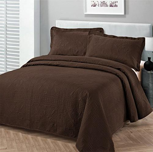collection luxury bedspread coverlet embossed