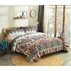 Earthy Meadow Quilted Bedspread Set by DaDa Bedding Collecti