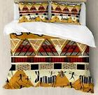 Ambesonne Ethnic Duvet Cover Set Queen Size, Tribal Ethnic S