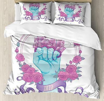 Feminist Duvet Cover Set Twin Queen King Sizes with Pillow S