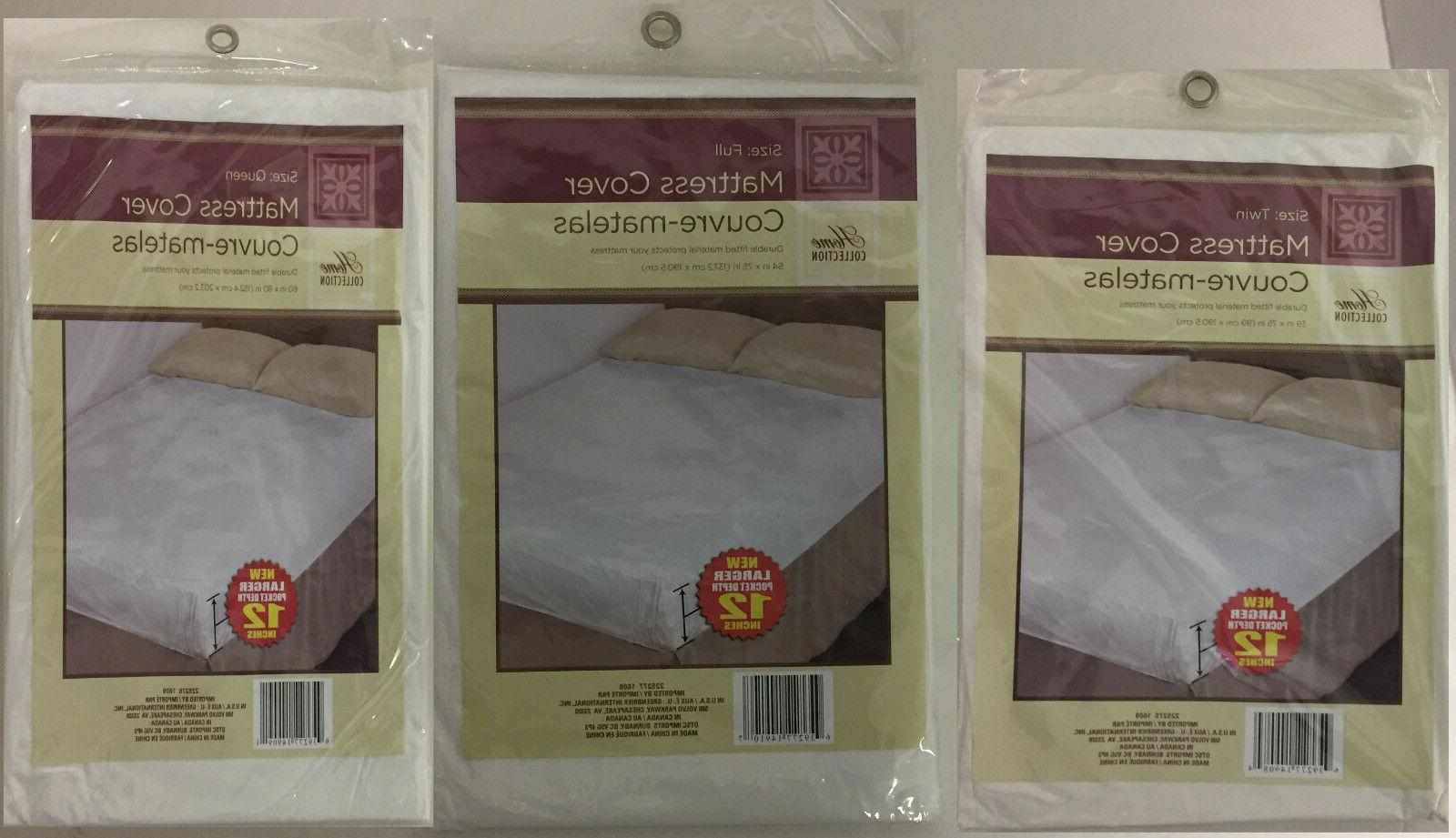 fitted mattress cover protector lightweight plastic spill
