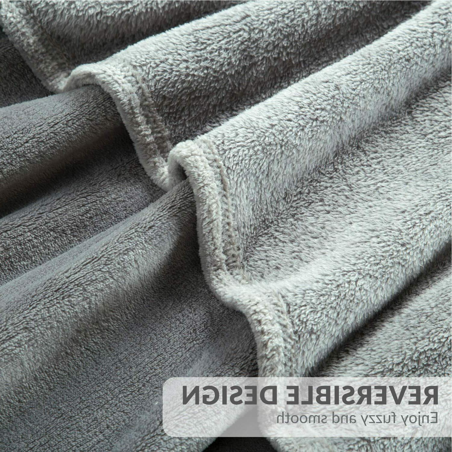 Bedsure Fleece Size Grey Lightweight Super Soft Bed Blanket