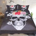 Sleepwish Floral Skull Bedding Black and White Comforter Cov