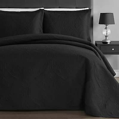 floral thermal pressing 3 piece oversized coverlet
