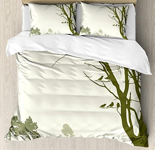 forest duvet cover set queen