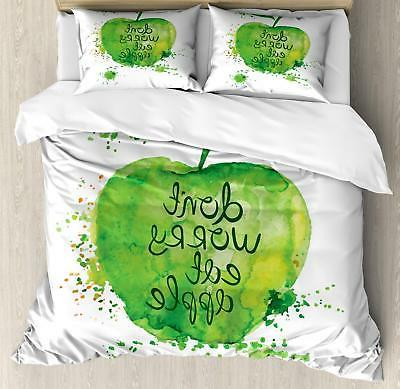 Fruit Duvet Cover Set Twin Queen King Sizes with Pillow Sham