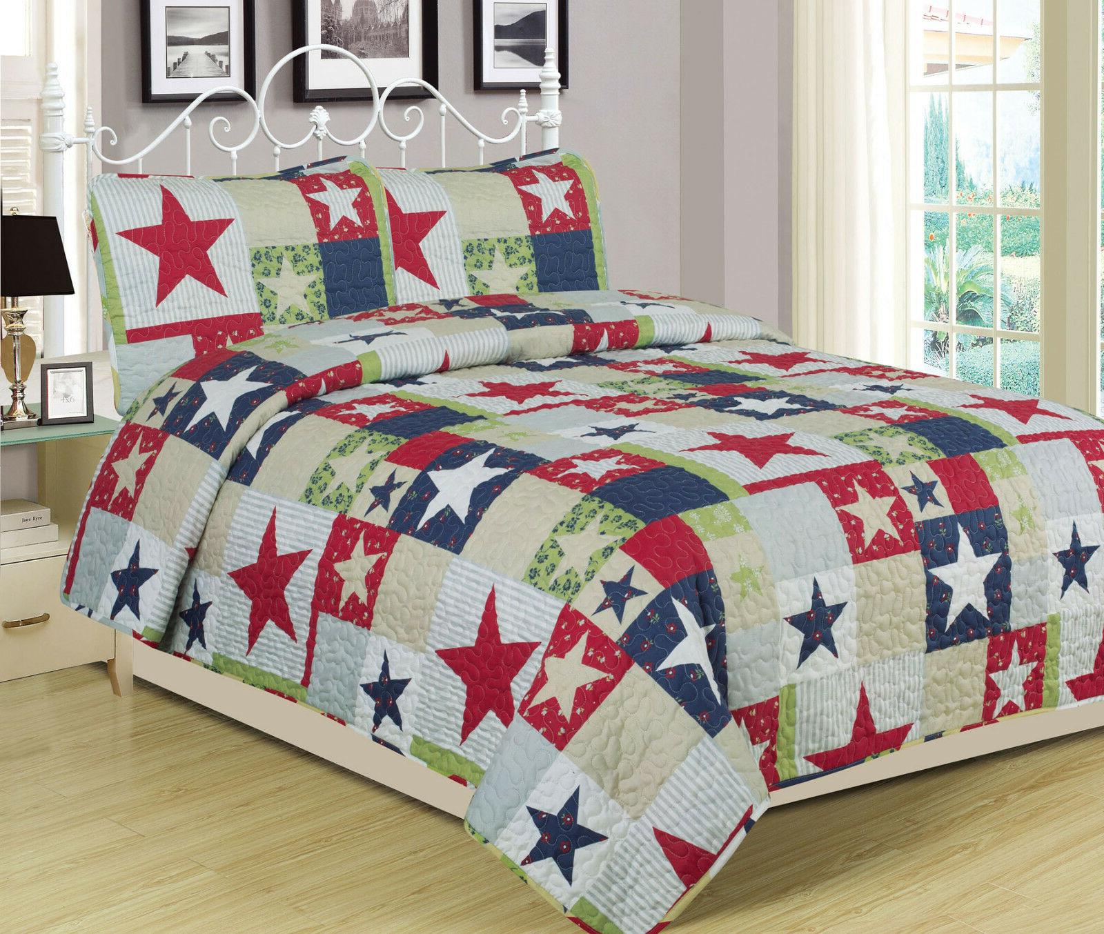 full queen or king rustic star quilt
