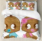 Gender Reveal Decorations Cute African American Baby in Diap
