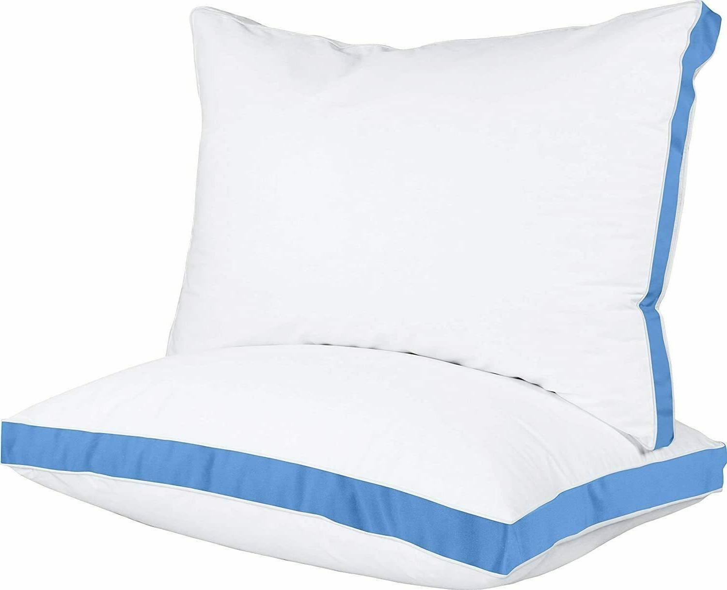 Gusseted Quilted Pillow 2 Pack Hypo Allergenic Queen & King