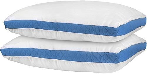 gusseted quilted pillow bed pillows