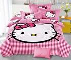 Hello Kitty Bedding Sets kids 4pc duvet cover bed sheet  twi