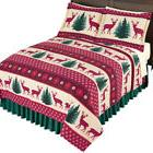 Holiday Deer Christmas Bedding Coverlet, by Collections Etc