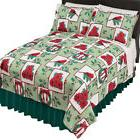 Holiday Fleece Christmas Bedding Coverlet, by Collections Et