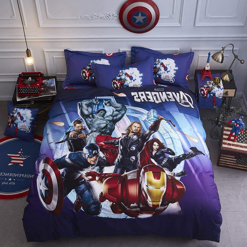 Iron man bedding comforter set single king size