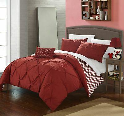 Chic Home Jacky 4 Piece Comforter Set Reversible Pinch Pleat