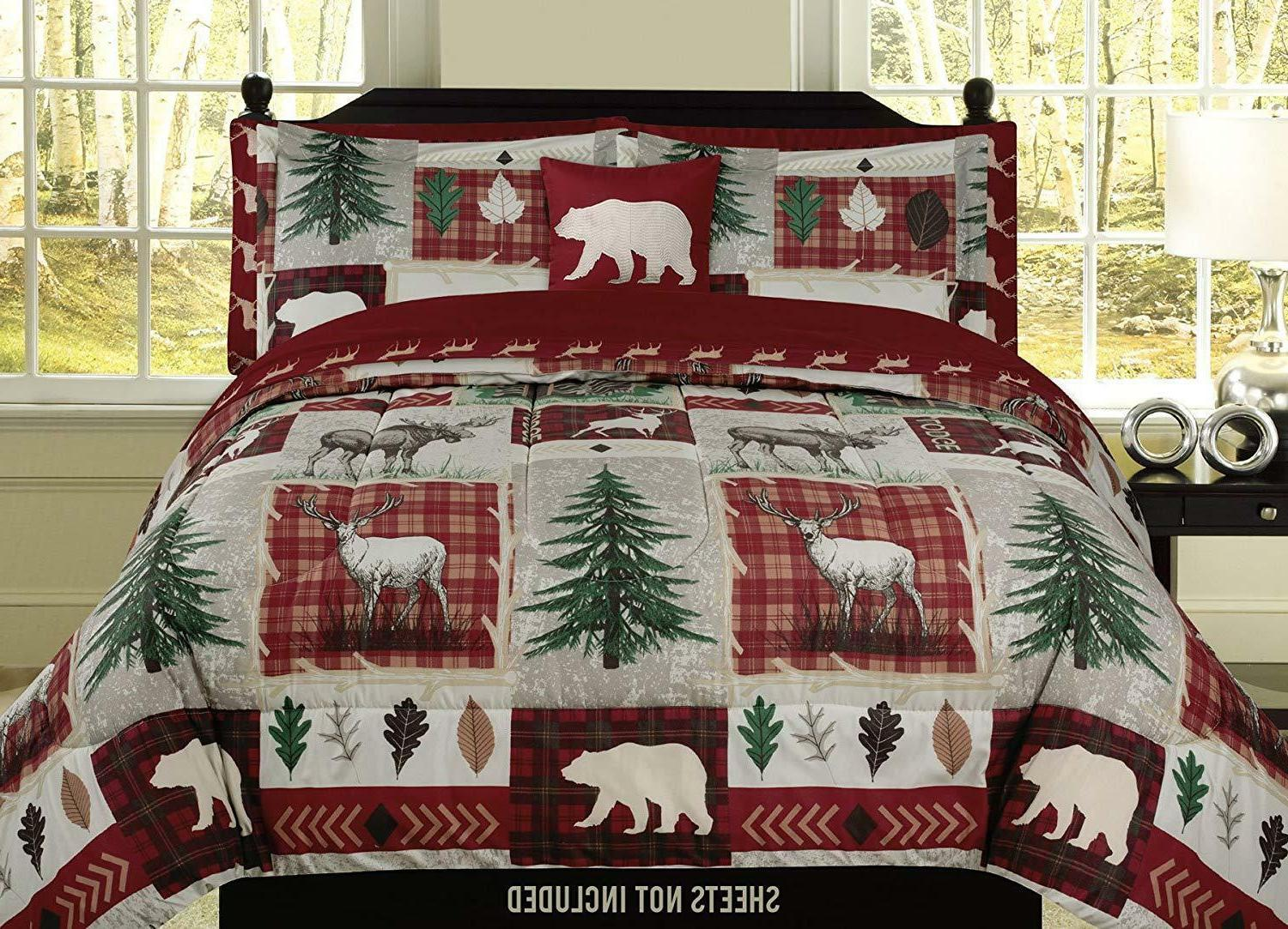 Comforters Bedding Sets Home Garden King Full Queen Or Twin Bear Lodge Deer Elk Rustic Cabin Comforter Bedding Set 360idcom Fr