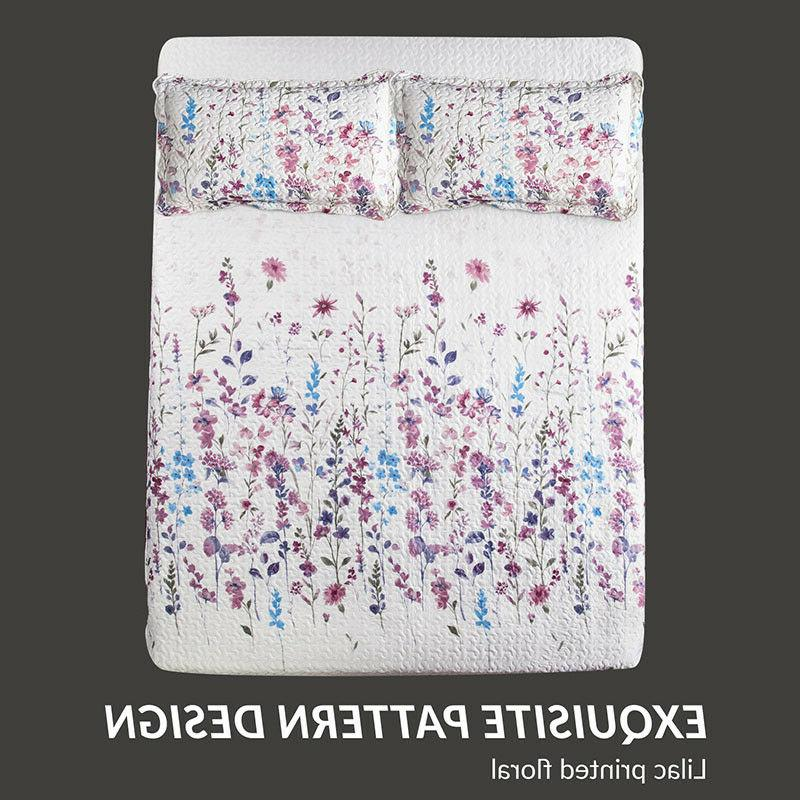 Bedsure Queen/ Full Floral Print Coverlet